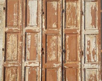 5 strands worn wood trim painted ep 1940 238 cm H
