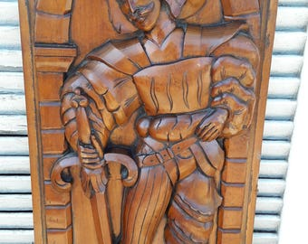 Wood carved conquistador Catalonia Spain