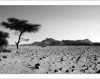 "Fine Art black and white 30 x 45 numbered and signed ""Hoggar"" Algeria"