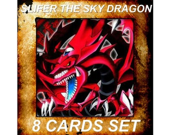 Yugioh Orica Anime Slifer the Sky Dragon Set of 8 cards