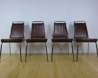Vintage Mid Century Modern Chromcraft Dining Chairs