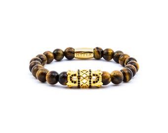 Gemstone Tiger eye, bracelet, beaded bracelet