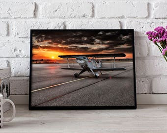 Airplane poster Aircraft print Aviation Aircraft poster Airplane print Aircraft decor Airplane art Airplane print Gift poster