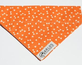 Orange Geometric Dog Neckerchief