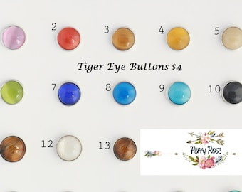 Tiger Eye Buttons