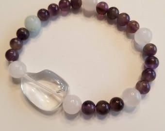 Amethyst and Clear Quartz bracelet