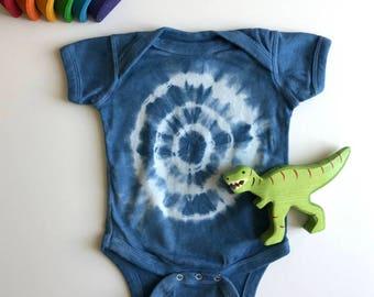 Hand-dyed Indigo Onesie; Baby Boy Onesie; Baby Girl Onesie; Unisex Baby Onesie