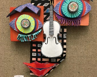 Colorful sculpture