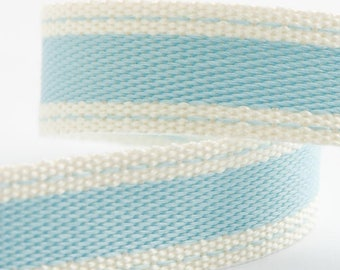 Ribbon - 15mm x 10m Cotton Twill Ribbon - Light Blue