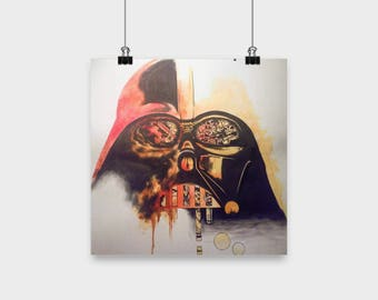 Fun Time with Vader Original artwork poster