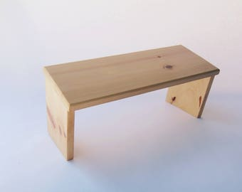 Handcrafted Portable Meditation Bench (Pine)