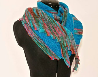 Knitted Striped Shawlette