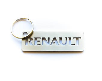 RENAULT stainless steel hand polished keychain