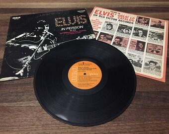 Elvis in Person Vinyl Album