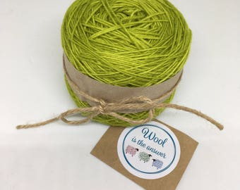 Hand Dyed 4 ply Superwash Merino - Olive 4