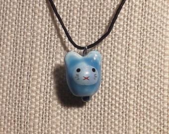 Happy Kitty Blue Kitty Necklace