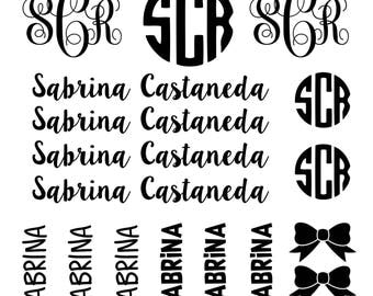 Sale* BACK TO SCHOOL- Monograms and Labels