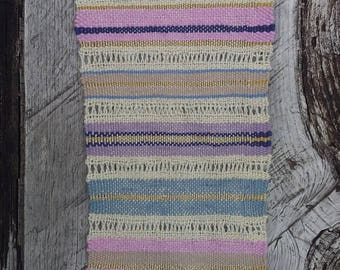Woven wall hanging: stripes