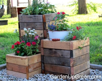 Unique 'One-Of-A-Kind' Garden Planter from Reclaimed Wood