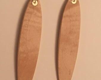 Curly Maple Earrings