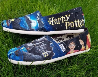 CUSTOM PAINTED Harry Potter SHOES