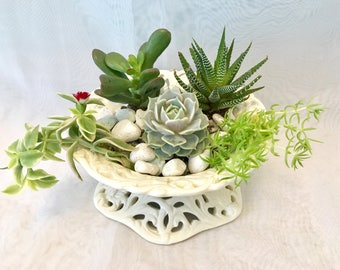 Vine dish bowl planter farmhouse, shabby chic, succulents and air plant, candle holder, ornaments display