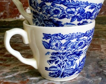Blue China Cups