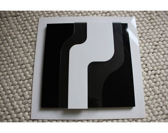 Seventies Plexiglass Wall Object Verner Panton Design Collectors Item Signed 1974 by Martien van den Dijssel