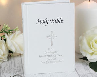 Personalised Bible, Bible, Holy Bible, Kings James Bible, Christenings, Baptisms, Holy Communions, Wedding Gifts, Personalized Bible