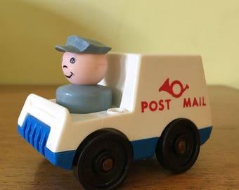 Vintage Fisher Price Little People Post Mail Van