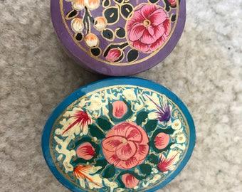 Kashmir paper mache box with floral design