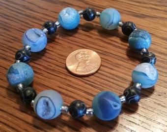 Black and Blue, Crystal Bracelet