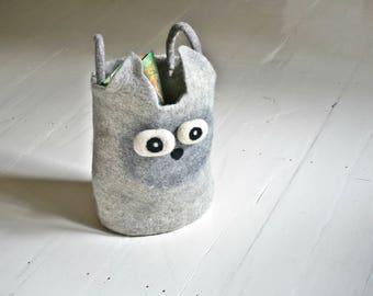 Scandinavian Kids Toys Storage Basket Felt Bin by Felt Interior Design