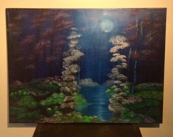 Magical Forest oil painting - 18x24 inches
