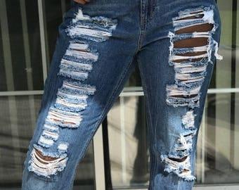 Distressed Vintage Jeans