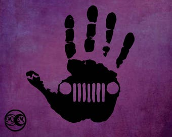 Jeep Hand Decal