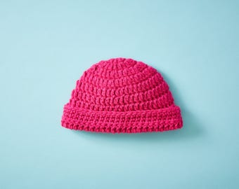 Crocheted Pink Baby Hat