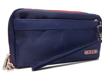 Front Zipper Pocket Organizer - Satin