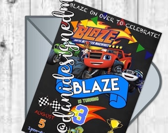 Blaze and the Monster Machines Invitation