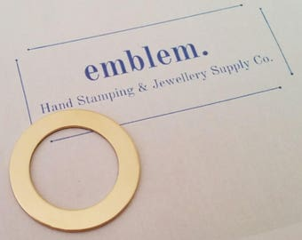 Hand Stamping Blanks Gold Fill - Washer 18ga 30mm
