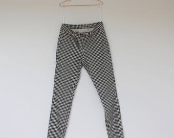 Gingham Pants - High waisted Stretch