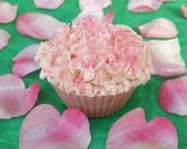 Pink Cupcake Natural Body Soap, Natural Skincare, Artisan Soap, Handmade Soap, Homemade Soap, Rustic Soap, Gift For Her, Valentines Day