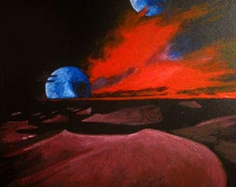 Canvas Print - Dune, original painting