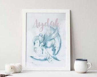 Watercolour Fairy (Illustration, Personalised)