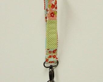 Keychain Key Holder, Wristlet Key Chain, Wristlet Key Holder, Fabric Key Holder