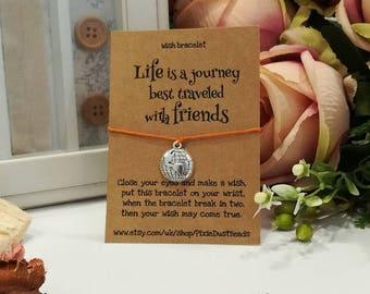 Friendship Wish Bracelet, Wish Bracelet, Friend Wish Bracelet, Friendship Bracelet, Charm Bracelet, Friend Gift, Gift for Her, Friendship