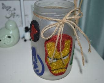 Marvel Avengers Glitter Jar Decoration