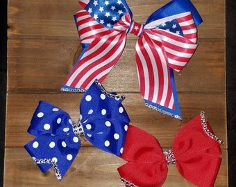 4th of July bow set