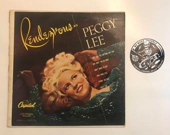 """Peggy Lee Rendezvous 10"""" Vinyl"""