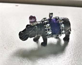 Hippo Circus Animal Pendant- Anthropolie Style